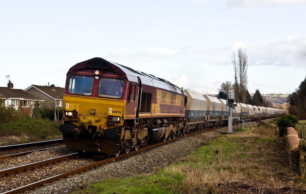 66076, 10.46 Hayes and Harlington Tarmac Sidings-Moreton-on-Lugg, Ponthir, near Newport, 10-2-16.