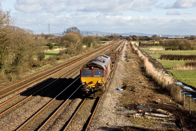 66188, 11.24 Newport Alexandra Dock Junction Yard-Cardiff Tidal Yard, St Mellons, Cardiff, 10-2-16.