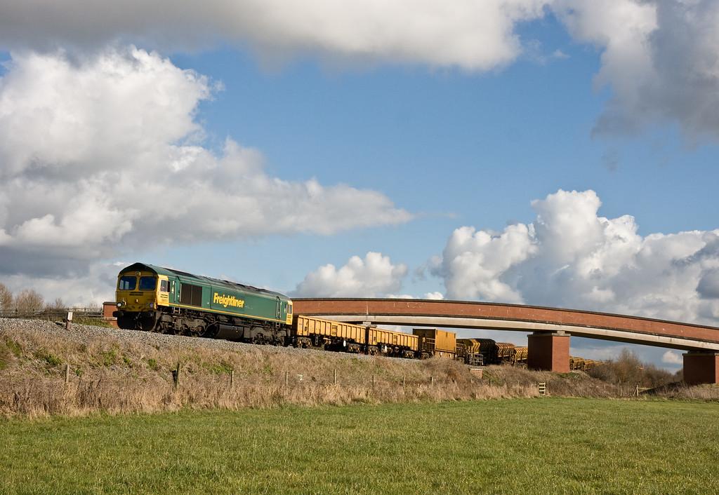 66951, 12.12 Westbury-Taunton Fairwater Yard, Oath, near Langport, 23-2-16.