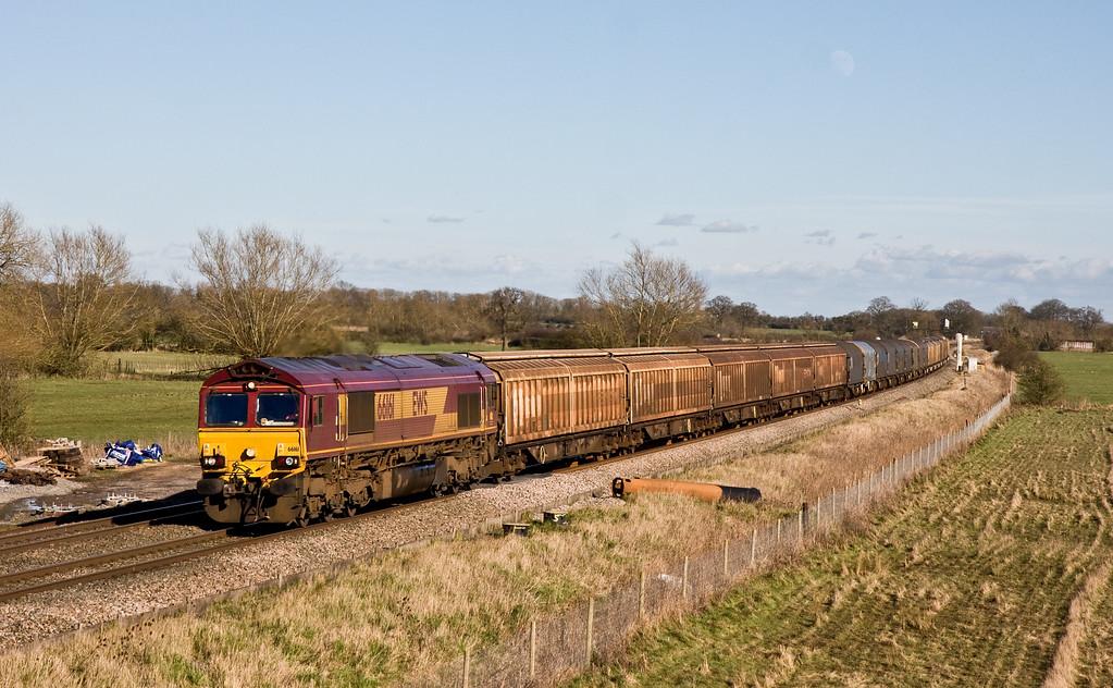 66161, 10.30 Tilbury International Railfreight Terminal-Trostre Works, Shrivenham, near Swindon, 18-2-16.