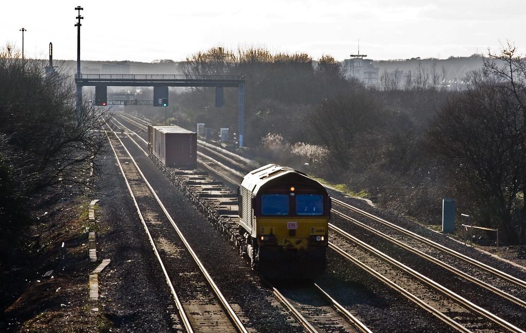 66184, 14.32 Barry Docks ABP Shipment -Newport Alexandra Dock Junction Yard, St Mellons, Cardiff, 15-2-16.