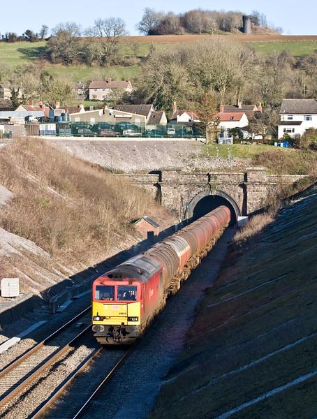 60019, 13.10 Theale Murco-Robeston Sidings, Chipping Sodbury, near Bristol, 24-2-16.