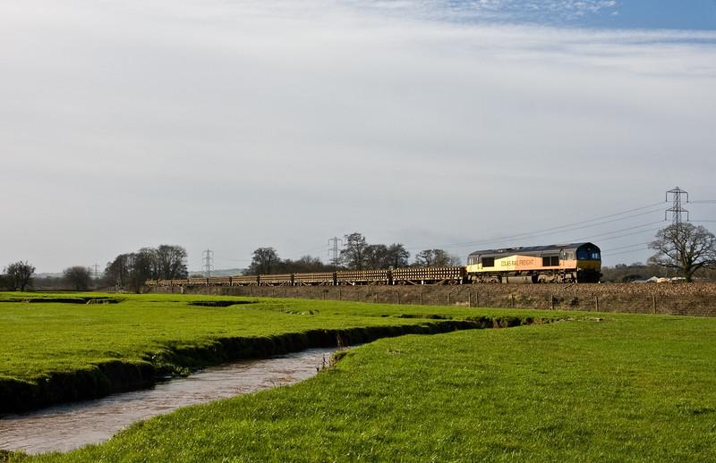 66847,  10.00 Par-Westbury, Pugham Crossing, near Burlescombe, 30-1-16.