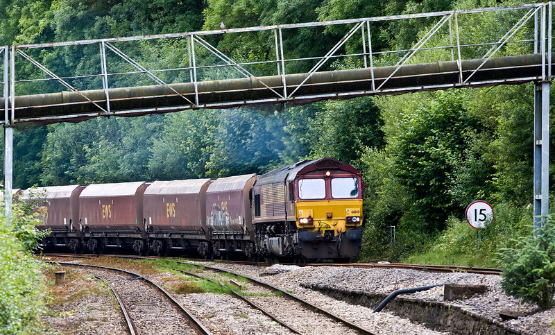 66140, 08.52 Margam-Cwmbargoed Opencast Colliery, Ystrad Mynach, 13-7-16.