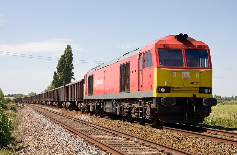 60017, 12.59 Exeter Riverside Yard-Westbury Yard, Oath, near Langport, 19-7-16.