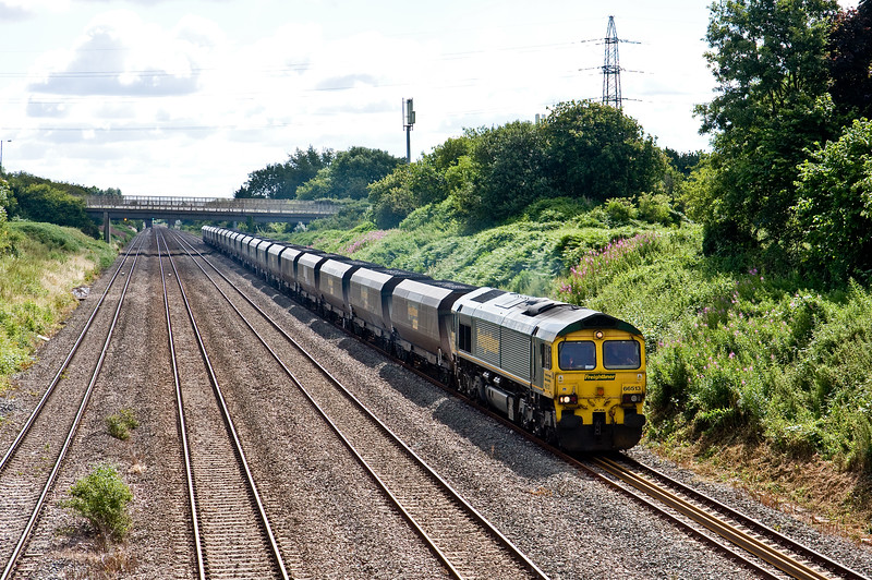 66513, 09.25 Avonmouth Bulk Handling Terminal-Aberthaw Power Station, Llandevenny, near Llanwern, 14-7-16.