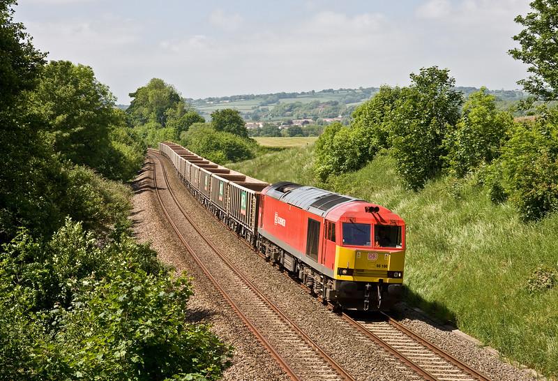 60100, 11.53 Exeter Riverside Yard-Whatley Quarry, Whiteball, 3-6-16.