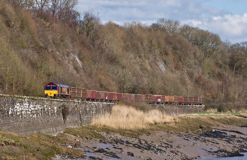 66060, 04.15 Doncaster Belmont Down Yard-Cardiff Tidal Yard, Purton, near Lydney, 7-3-16.