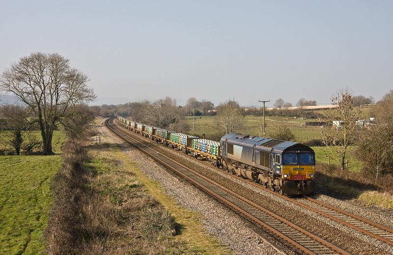 66419, 09.16 Taunton Fairwater Yard-Washwood Heath, Cogload, 21-3-16.