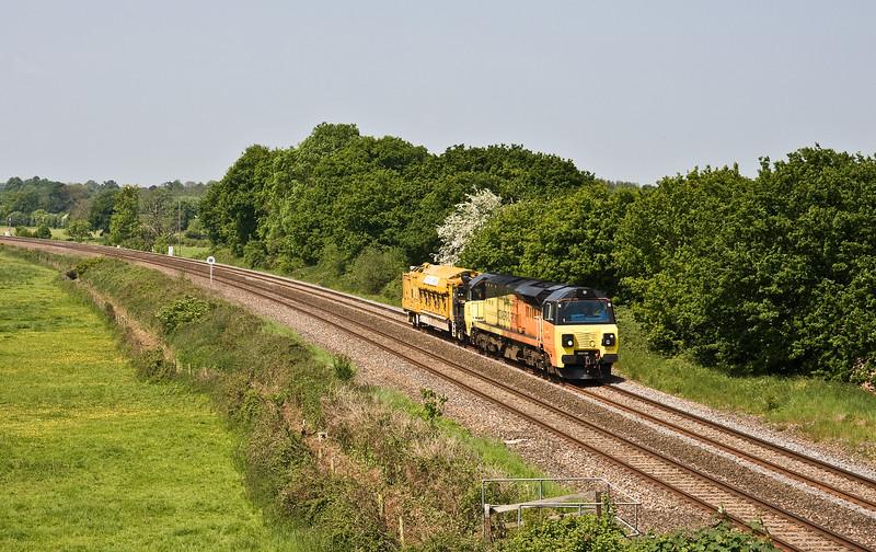 70809, 08.35 Aish Emergency Crossover (near Totnes)-Westbury Yard, Silverton, near Exeter, 29-5-16.