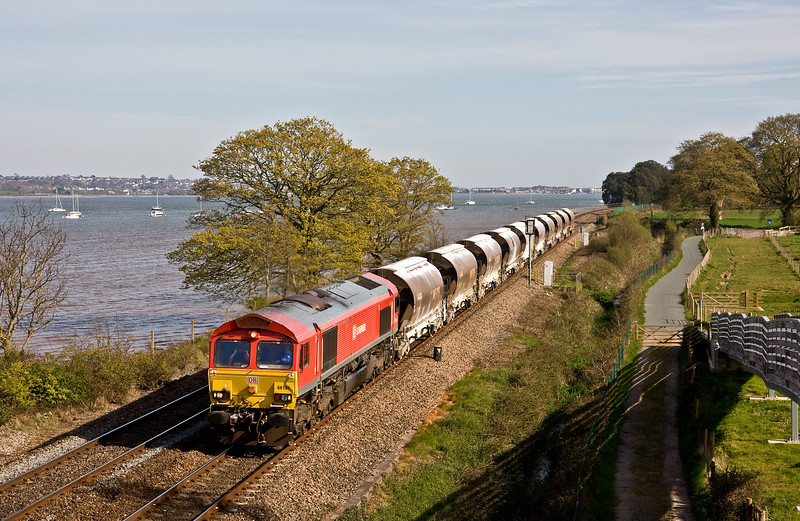 66101, 14.50 St Blazey Yard-Exeter Riverside Yard, Powderham, near Exeter, 5-5-16.