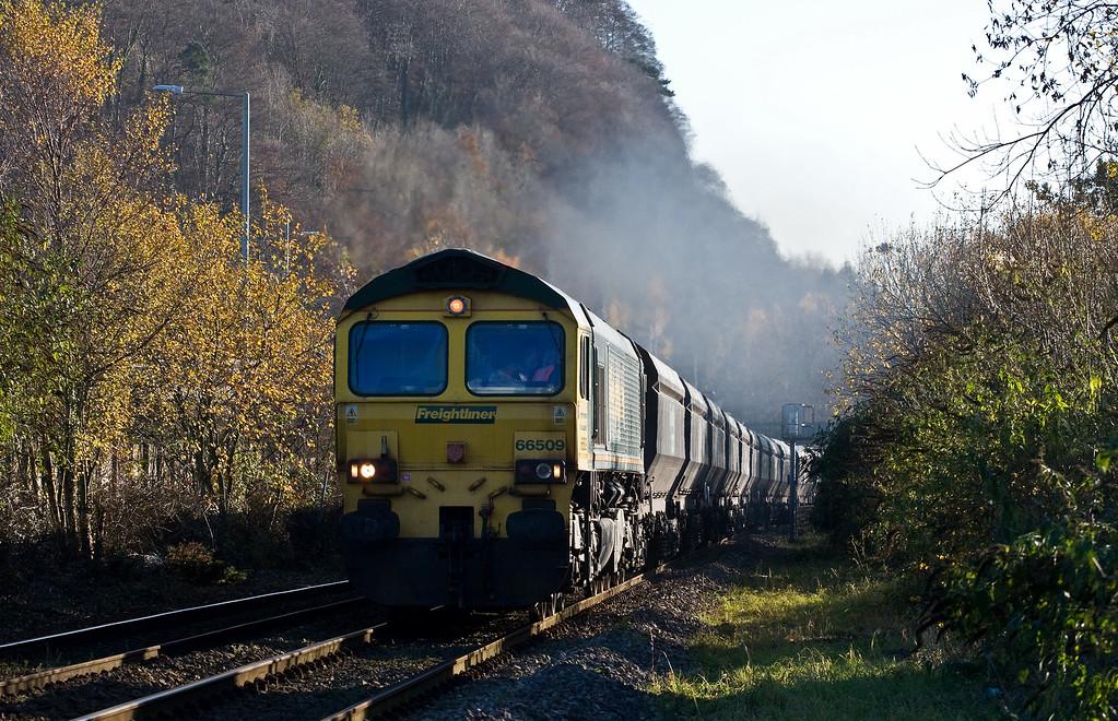 66509, 10.50 Bristol Stoke Gifford Yard-Tower Colliery, Taff's Well, 28-11-16.