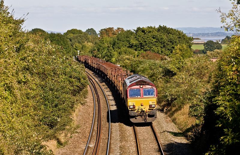 66121, 10.22 Corby-Margam, Sedbury Lane, Chepstow, 3-10-16.