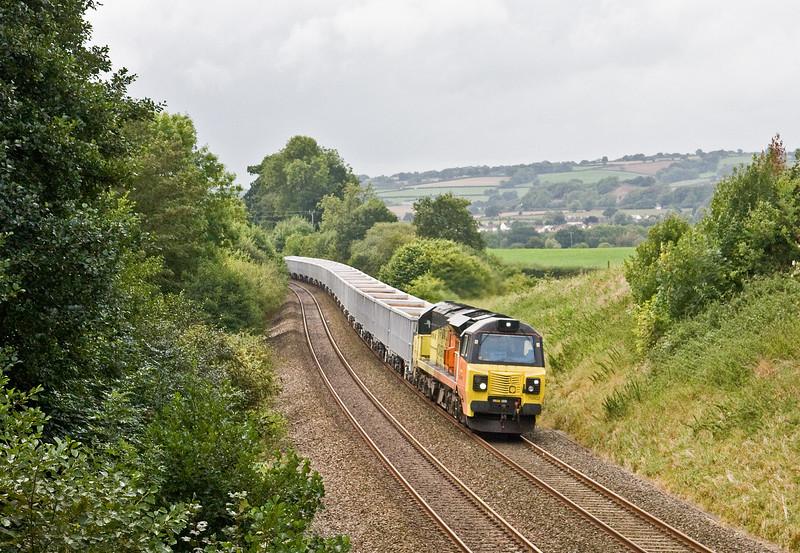 70802, 12.58 Exeter Riverside Yard-Whatley Quarry, Whiteball, 9-9-16.