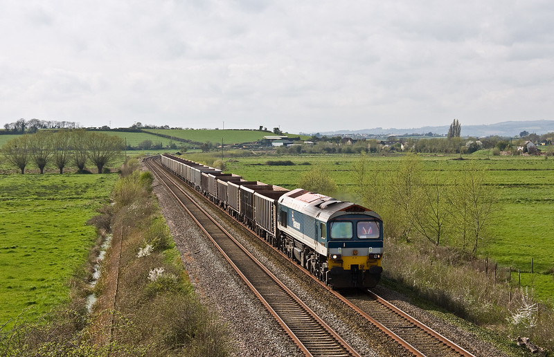 59102, 12.30 Exeter Riverside Yard-Whatley Quarry, Wick, near Langport, 3-4-17.