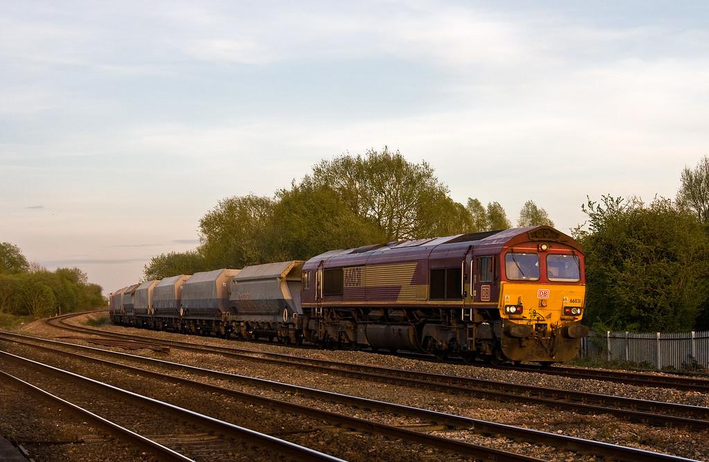 66031, 15.11 Hayes and Harlington Tarmac Sidings-Moreton-on-Lugg, Bishton, near Newport, 11-4-17.