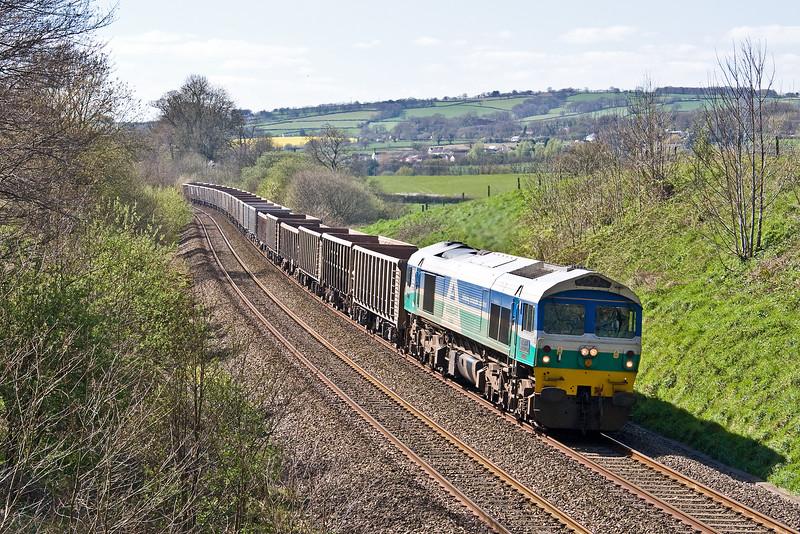 59001, 12.30 Exeter Riverside Yard-Whatley Quarry, Whiteball, 6-4-17.