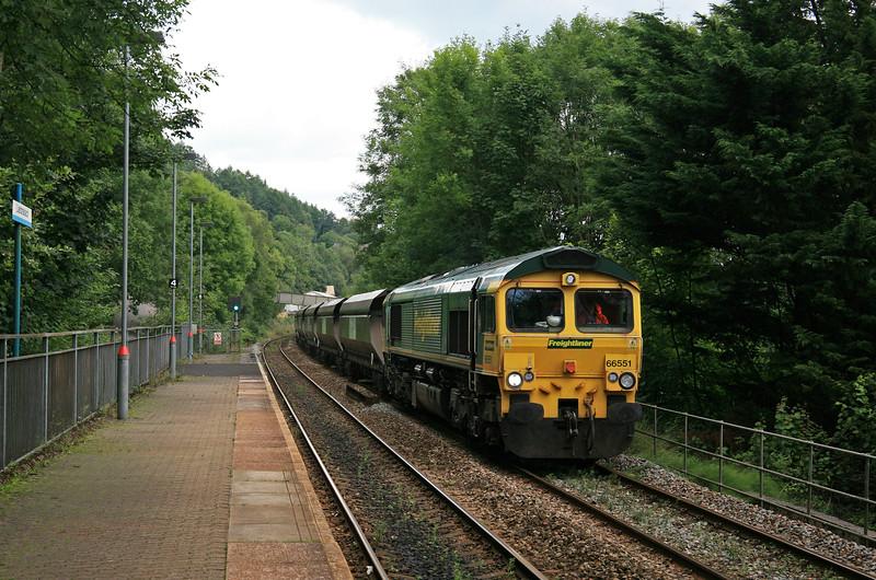 66551, 10.39 Cwmbargoed Opencast Colliery-Port Talbot Grange Sidings, Llanbradach,10-8-17.