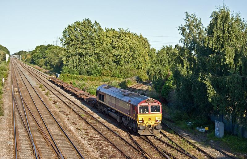 66119, 17.33 Portbury Automotive Terminal-Mossend Yard, Llanwern West Junction, 15-8-17.