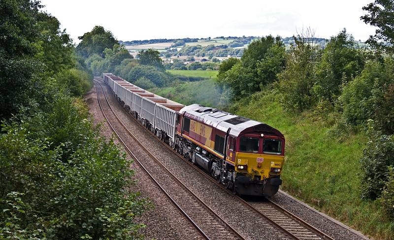 66143, 13.44 Exeter Riverside Yard-Whatley Quarry, Whiteball, 30-8-17.