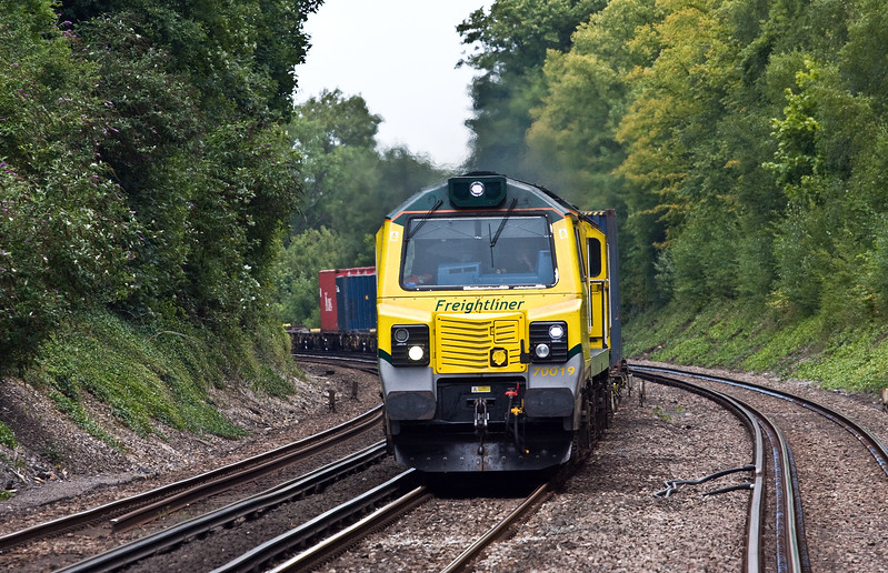 70019, 05.36 Garston FLT-Southampton MCT, Shawford, near Winchester, 1-8-17.
