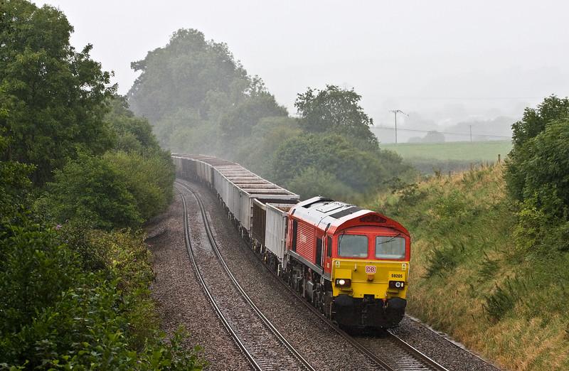 59205, 13.44 Exeter Riverside Yard-Whatley Quarry, Whiteball, 8-8-17.