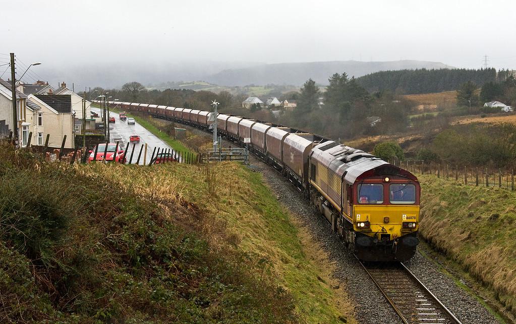 66078, 08.47 Margam-Onllwyn Washery, Onllwyn, 28-2-17.