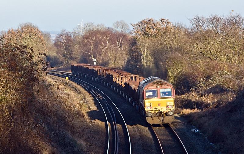 66011, 10.22 Corby-Margam, Sedbury Lane, Chepstow, 20-1-17.
