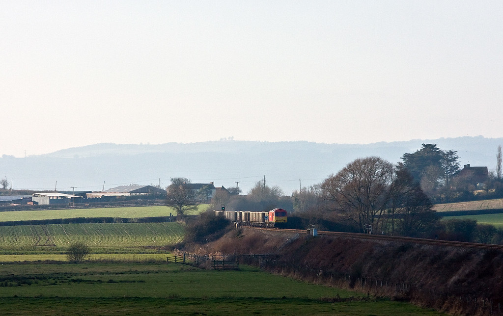 60054, 12.24 Exeter Riverside Yard-Whatley Quarry, Oath, near Langport, 25-1-17.