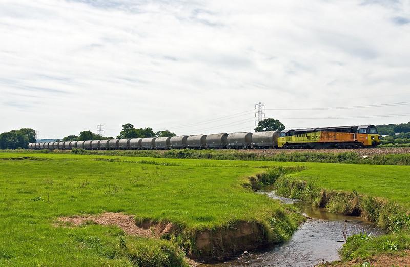 70810, 11.38 Moorswater Tarmac-Aberthaw Cement Works, Pugham Crossing, near Burlescombe, 6-7-17.