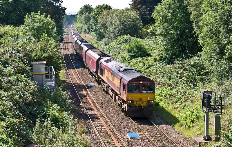 66199, 00.22 Hope Earles Sidings-Cwmbargoed Opencast Colliery, Llanishen, Cardiff, 24-7-17.