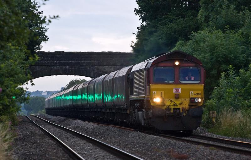 66108, 12.15 Onllwyn Washery-Immingham, Woolaston , near Lydney, 13-7-17.