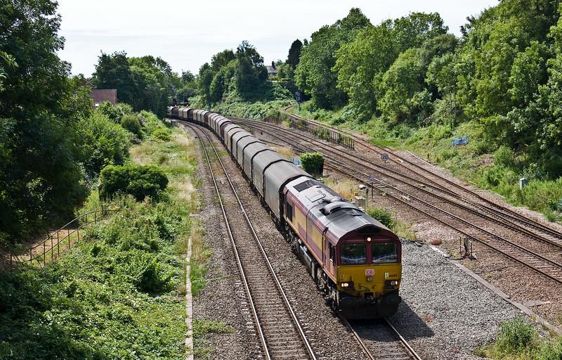 66109, 11.52 Margam-Round Oak, Gaer Junction, Newport, 17-7-17.