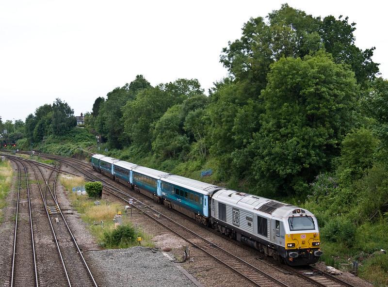 67029, 17.16 Cardiff Central-Holyhead, Gaer Junction, Newport, 13-7-17.