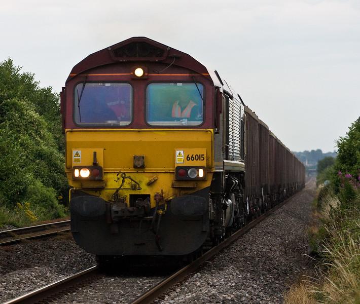 66015, 17.21 Saltley (Birmingham)-Cardiff Tidal, Woolaston ,near Lydney, 13-7-17.