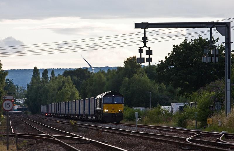 66421, 18.58 Cardiff Wentloog-Daventry Railfreight Terminal, Lydney Loops, 13-7-17.