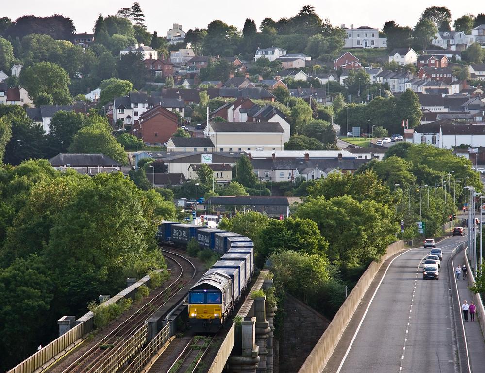 66433, 18.58 Cardiff Wentloog-Daventry Rail Freight Terminal, Chepstow, 15-6-17.