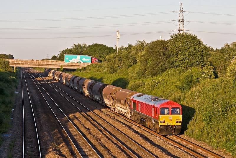 66020, 16.58 Bescot-Newport Alexandra Dock Junction Yard, Llandevenny, near Llanwern, 13-6-17.