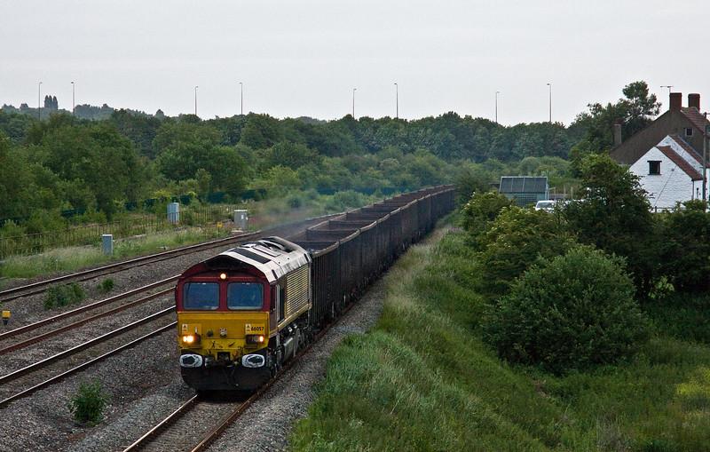 66057, 16.55 Saltley-Cardiff Tidal, Undy, near Severn Tunnel Junction, 15-6-17.