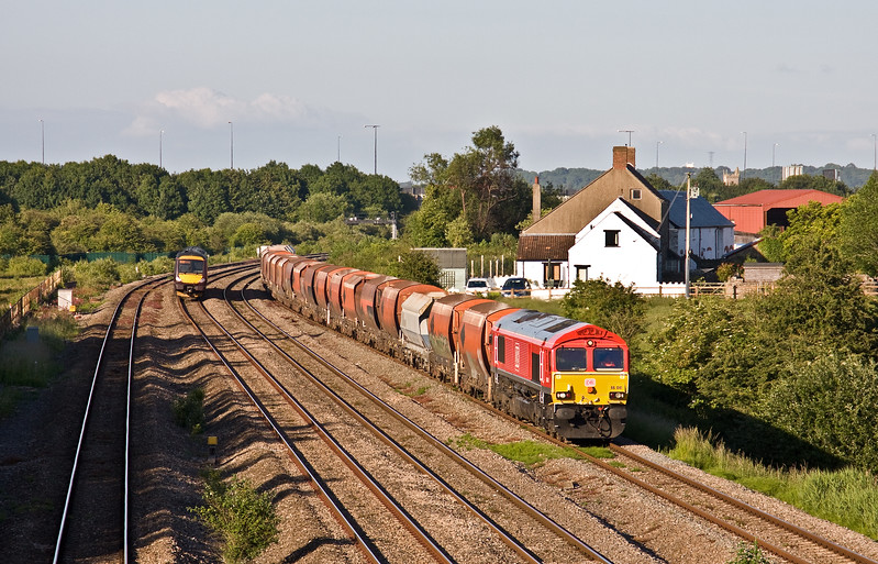 66041, 14.11 Hayes and Harlington Tarmac Sidings-Moreton-on-Lugg, Undy, 13-6-17. 170520, 18.45 Cardiff Central-Nottingham,