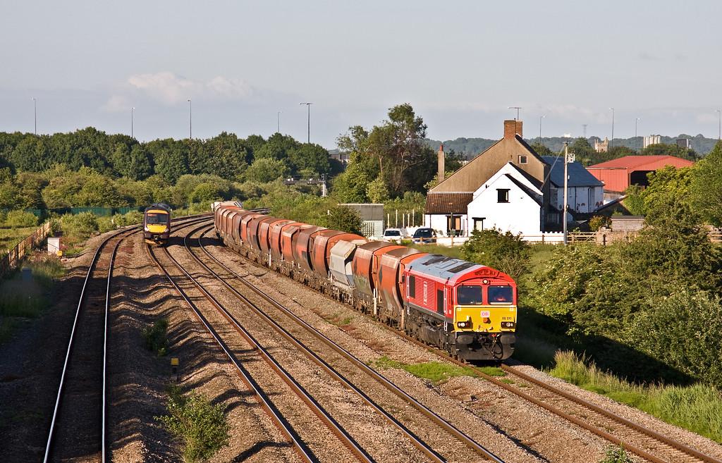 66041, 14.11 Hayes and Harlington Tarmac Sidings-Moreton-on-Lugg, Undy, 13-6-17. 170520, 18.45 Cardiff Central-Nottingham,