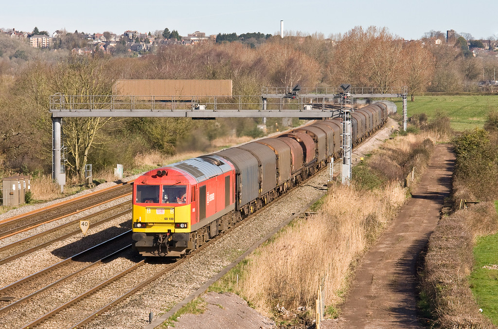 60100, 09.25 Llanwern Exchange Sidings-Margam, Duffryn, Newport, 13-3-17.
