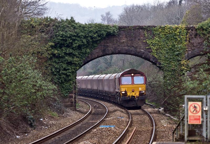 66116, 10.39 Cwmbargoed Opencast Colliery-Port Talbot Grange Sidings, Llanishen, Cardiff, 13-3-17.