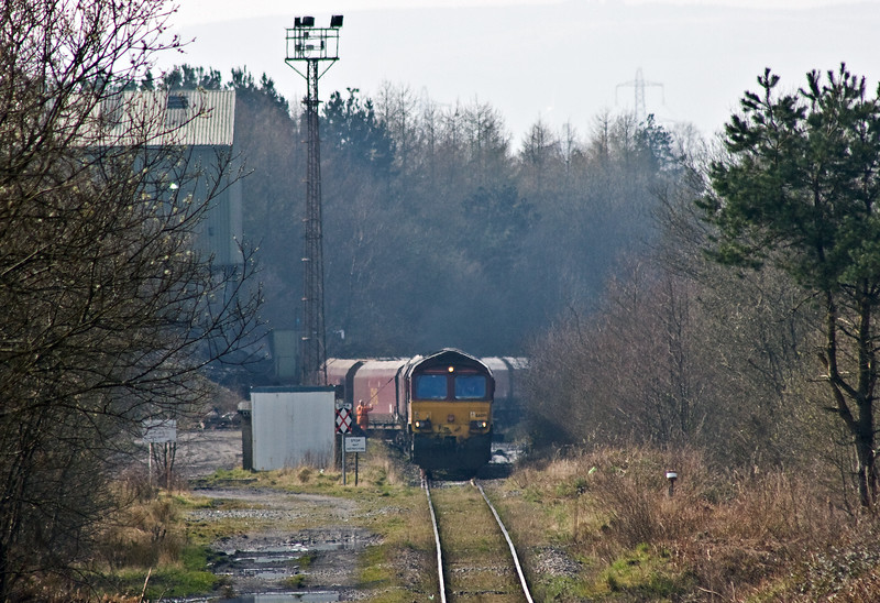 66091, loading 18.17 Tower Colliery-Newport East Usk Yard, Tower Colliery, 27-3-17.