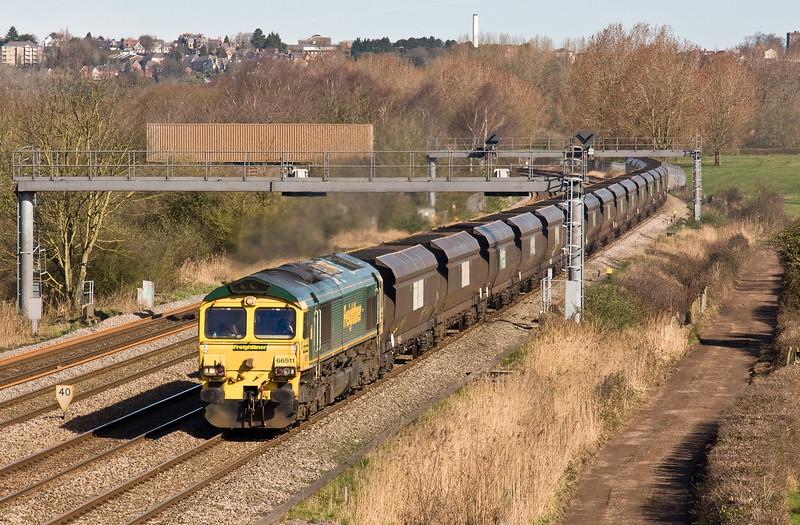 66511, 09.25 Avonmouth Bulk Handling Terminal-Aberthaw Power Station, Duffryn, Newport, 13-3-17.