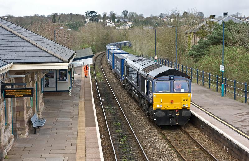 66425, 10.20 Daventry Railfreight Terminal-Cardiff Wentloog, Chepstow, 21-3-17.