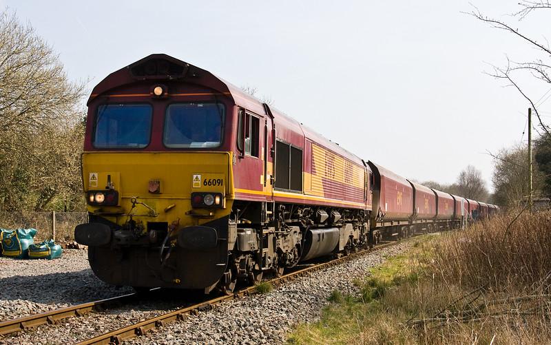 66091, 11.41 Newport Alexandra Dock Junction Yard-Tower Colliery, Penyard Road Crossing, Hirwaun, 27-3-17.