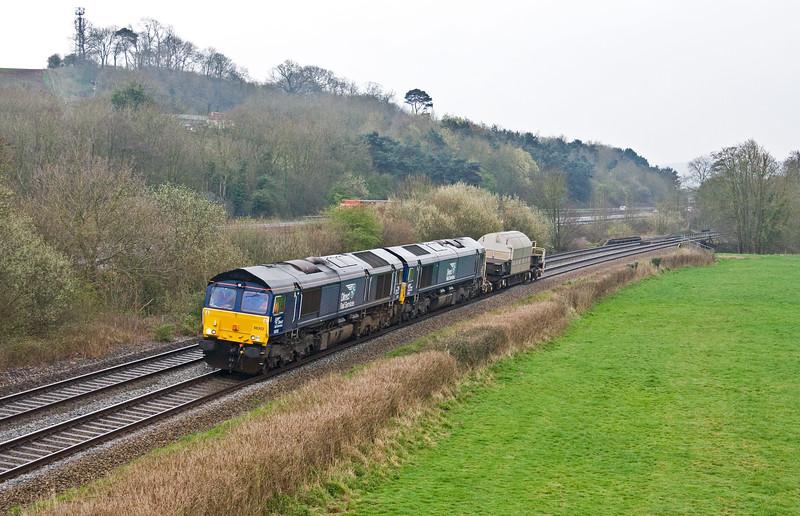 66302/66431, 09.14 Devonport Royal Dockyard-Crewe Coal Sidings, Cullompton, 23-3-17.