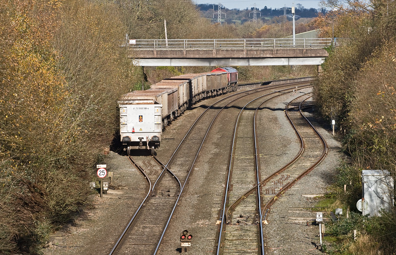 59203, 13.44 Exeter Riverside Yard-Whatley Quarry,  Tiverton Loops, Willand, near Tiverton, 24-11-17 (early).