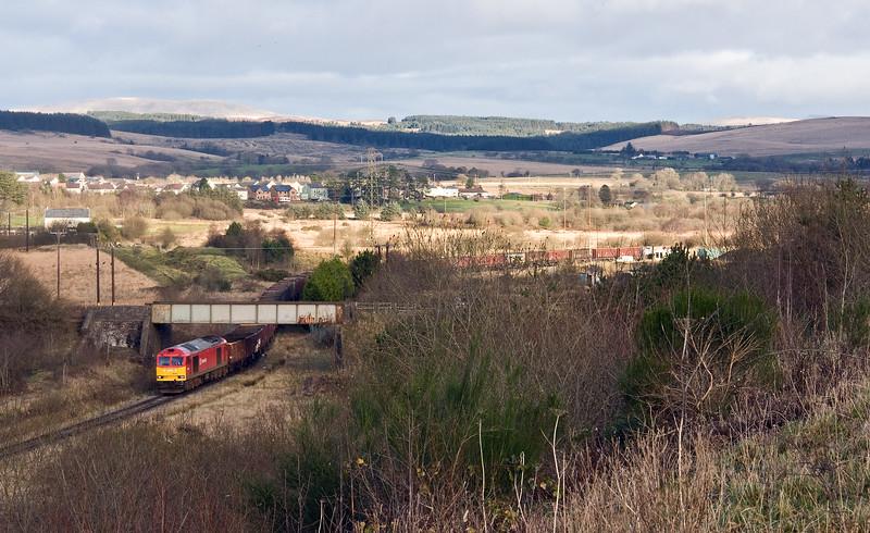 60001,14.10 Onllwyn Washery- Swansea Burrows, departing Onllwyn, 29-11-17.